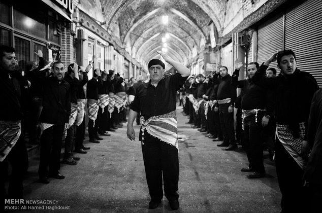 آئین عزاداری عاشورای حسینی در بازار تبریز