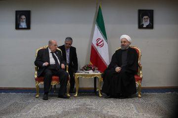 دیدار رئیس مجلس شورای ملی فلسطین با رئیس جمهور