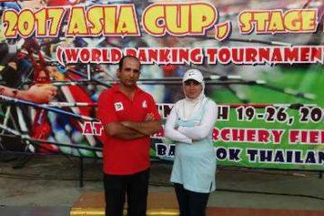 دو طلای کامپوند کاپ تیرو کمان آسیا بر گردن ایرانیان