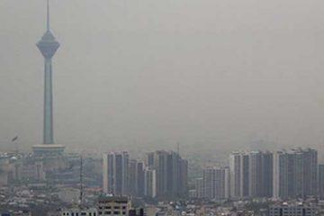هوای تهران برای گروه های حساس در شرایط ناسالم است