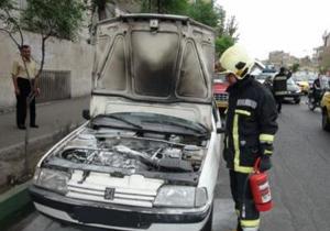 خودروی تندر آتش گرفت/ حادثه خسارت جانی نداشت