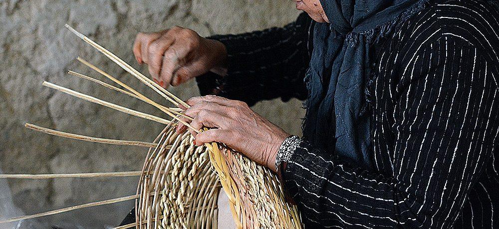 کارگاه سبدبافی روستای ویست
