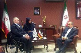 دیدار رئیس کمیته بینالمللی پارالمپیک با سلطانیفر