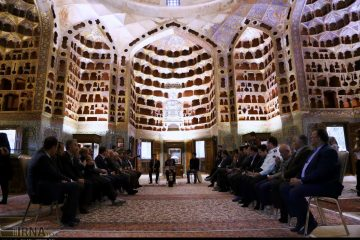 بازدید نمایندگان مجلس از بقعه شیخ صفی در اردبیل