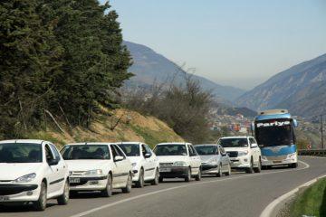 ترافیک در محور کندوان سنگین است