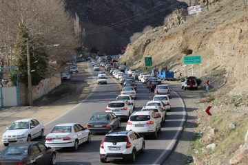 ترافیک جاده کرج- چالوس نیمه سنگین است