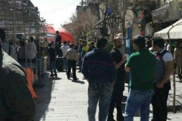 فروشندگان کیف و کفش در خیابان سپهسالار تهران تجمع کردند