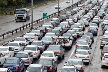 تردد در جاده های البرز به کندی صورت می گیرد