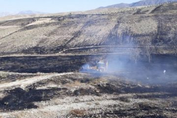 آتش سوزی اراضی کشاورزی منطقه وادان شهرستان دماوند مهار شد
