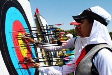 مسابقات تیراندازی با کمان کشور در همدان آغاز شد